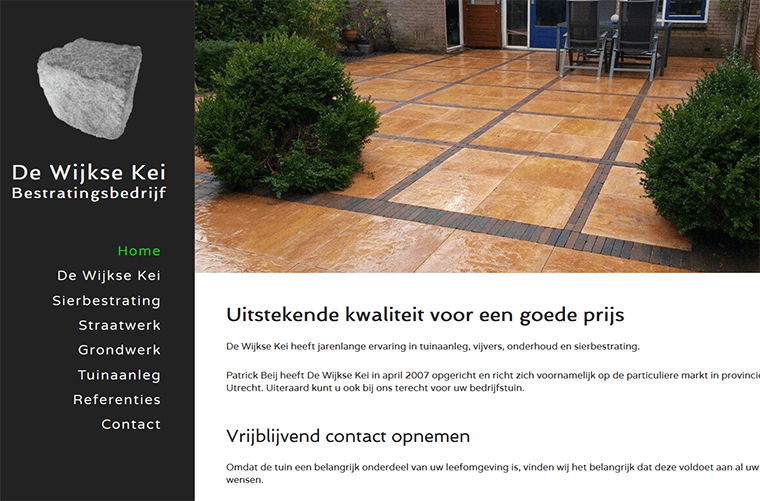 Website made for De Wijkse Kei