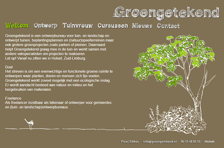 Website made for Groengetekend