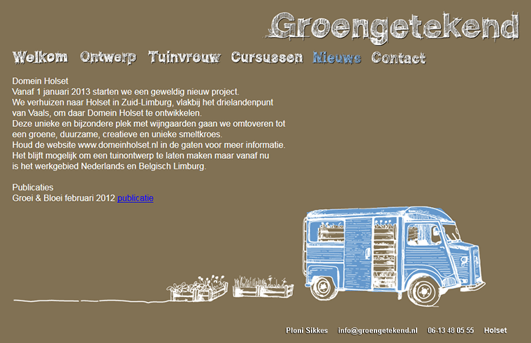 Screenshot of the website of Groengetekend