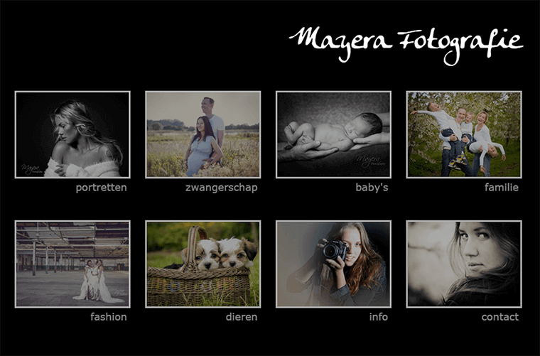 Website made for Mayera Fotografie