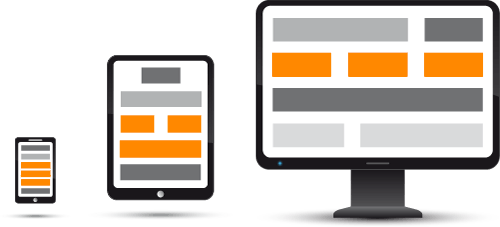 Illustration of responsive web design